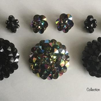 Rivoli Brooch Sets — Sherman, 1960s - Costume Jewelry