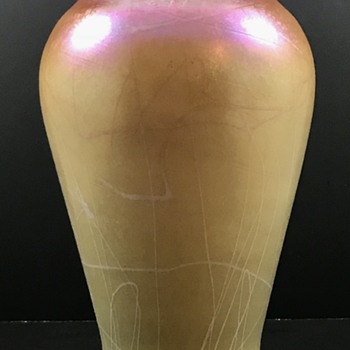 Imperial Lead Lustre Vase, Shape # 643, ca. 1925 - a previously unknown decor - Art Glass