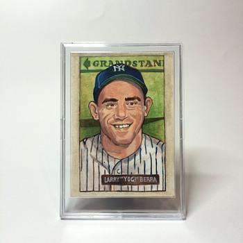 Handmade Yogi Berra Card - Baseball