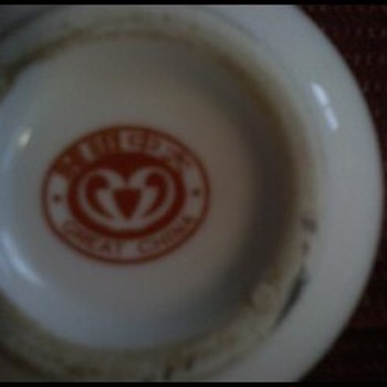 these are picturs of the underside of the 2 sets i received. - China and Dinnerware