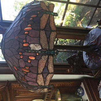 Dragonfly Tiffany Style Lamp - Lamps