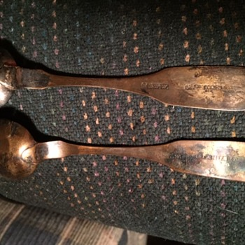 Very old spoons, very thin, stamped R&WW Standard, engraved. Made in early 1800's. - Silver