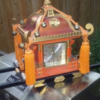 Japanese shrine clock - Clocks
