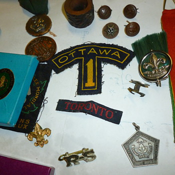 Vintage scouting items