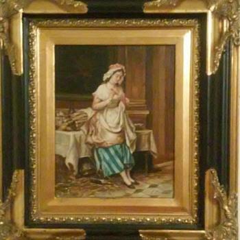 Maid painting - Fine Art