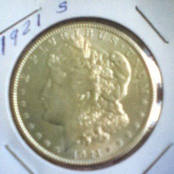 Raw 1921 Morgan Silver Dollar - US Coins