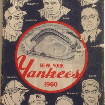 NEW YORK YANKEE'S 1960 OFFICIAL PROGRAM AND SCORECARD