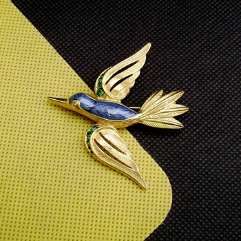Trifari Bird Brooch - Costume Jewelry
