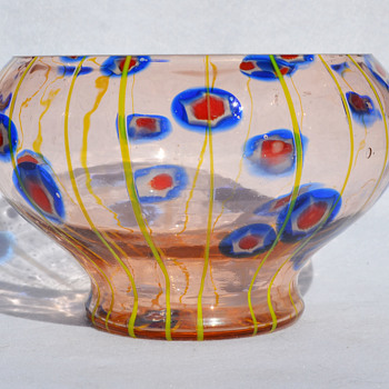 Kralik 'Lines and Canes' bowl - Art Glass