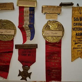 More indian wars badges/ribbins