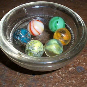 Antique Pontil Marbles I found in the forest by an 1855 farm house.