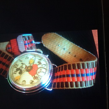 English Ingersoll Mickey Mouse Wristwatch - Wristwatches