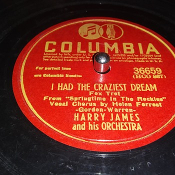 HARRY JAMES AND ORCHESTRA - Records
