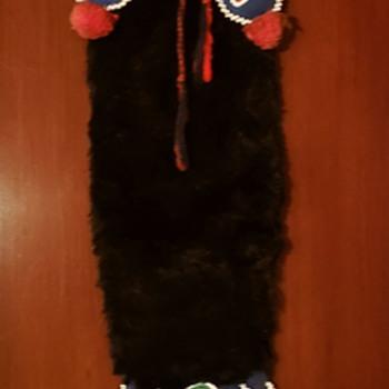 Native American Indian Beaded Otter Skin Medicine Bag - Native American