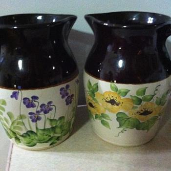 Robinson Randbottom hand painted pitchers - Pottery