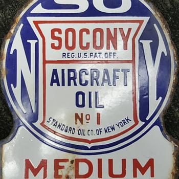 SOCONY sign - Petroliana