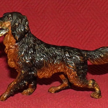Vintage Cold Painted Bronze Gordon Setter - Animals