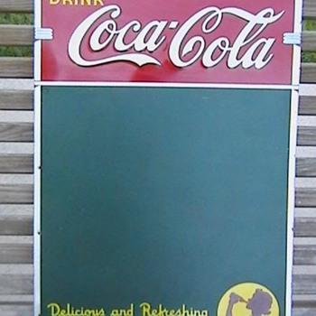 1941 Coca-Cola Greenboard Menu - Coca-Cola