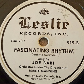 Joe Bari (Tony Bennett's first recording ever before he changed his name)