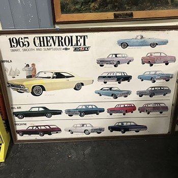 Original Chevrolet new car sales posters 1950's to 1970's  - Advertising