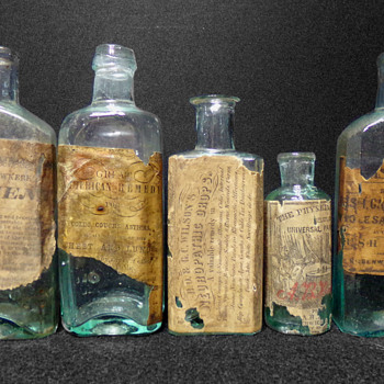 C. 1853 Pain Killer - Bottles