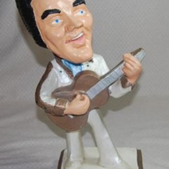 Elvis Presley Chalkware Statue (square base) - Music Memorabilia