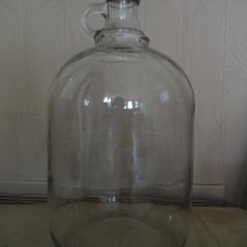 Vintage Glass Gallon Jug - Bottles