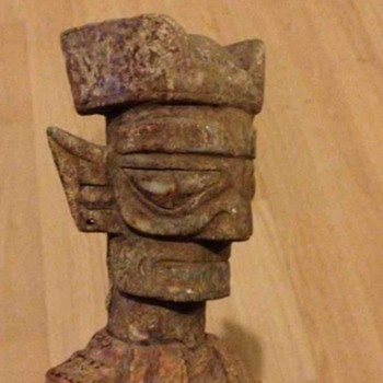 Maya ? Oriental ?  Old antique statue.  - Asian