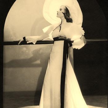 Actress  Lili Damita Original Portrait By Elmer Fryer Art Deco 1930s