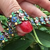Bernard Instone Silver Multi-Coloured Enamel and Marcasite Bracelet
