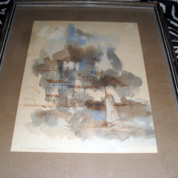 Impressionist Watercolor Signed Murphy