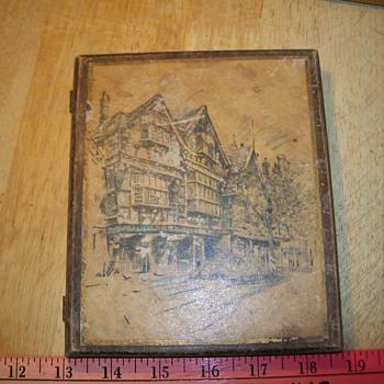 wooden book box - Folk Art
