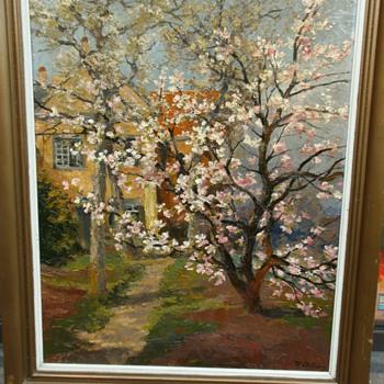Painting by Willem Delsaux, belgian painter