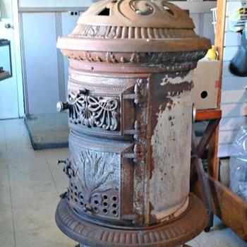 Just Aquired 1888 Sherman Jewett Oak Parlor Stove - Victorian Era