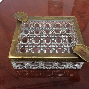 cut crystal ashtray