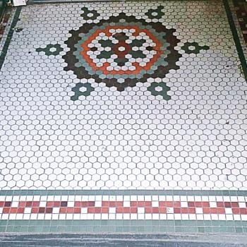 Storefront Mosaic Sidewalk, Jim Thorpe, PA ....October 09, 2021                                            - Tools and Hardware