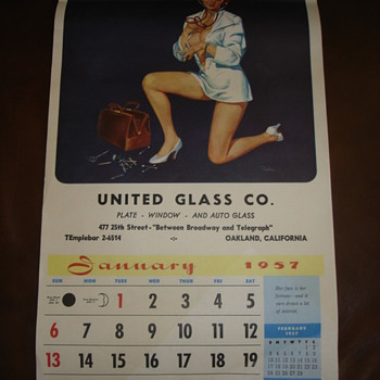 1957 PINUP CALENDAR - Paper