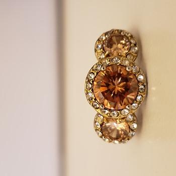 Art Deco Three Diamond Ring - Art Deco