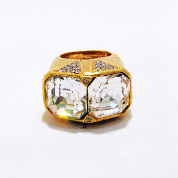 Vintage Alexis Kirk Art Deco Chunky Ring