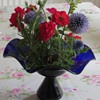 Cobalt Blue Glass Flared Vase