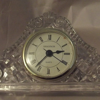 Shannon Crystal Mantel Clock