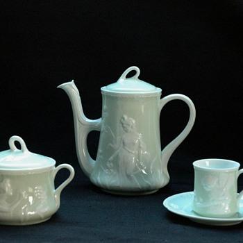 "nice porcelain miniature ""dejeuner"" by RICHARD GINORI - doccia  - Art Nouveau"