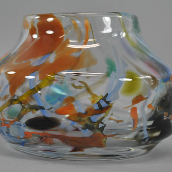 "Fostoria (W. VA.) ""Impressions"" Art Glass Vase - Art Glass"