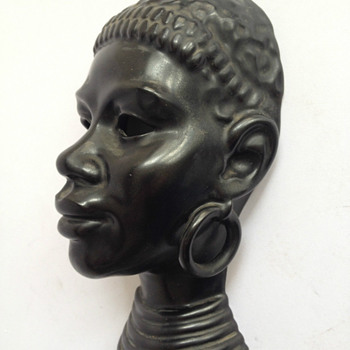 "Villeroy & Boch Luxembourg masque ""Africaine"" 1950 - Art Deco"