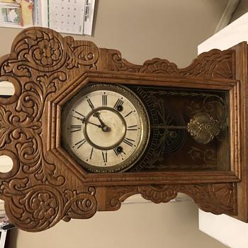 Antique Waterbury Clock front 1880s.  - Clocks