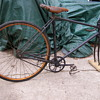 1 OLD BIKE-WHY THE WOOD RIMS-ANYBODY KNOW WHO BSA IS?