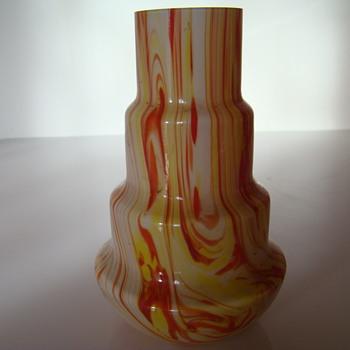 Gebruder Funk & Co stepped vase - Art Glass