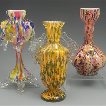 Some Bohemian Trophy / Posy Vases - Art Glass
