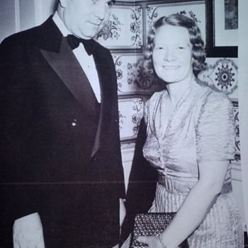 LAWRENCE DALE BELL, (LARRY BELL), FOUNDER OF BELL AIRCRAFT,  AND WIFE, LUCILLE MAINWARING BELL, RARE PHOTOGRAPH  - Photographs