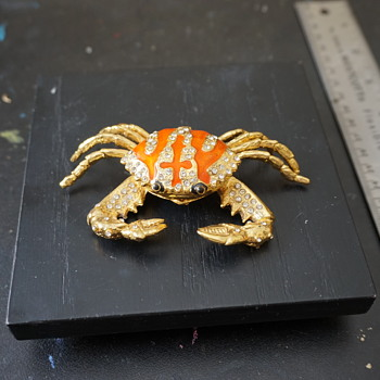Crab Trinket Box - Costume Jewelry